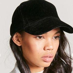 Accessories - Black Velvet Fashion Baseball Cap